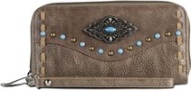 Thumbnail image for JUSTIN LADIES WALLET-AGED BRONZE  ; Style#  1809215W