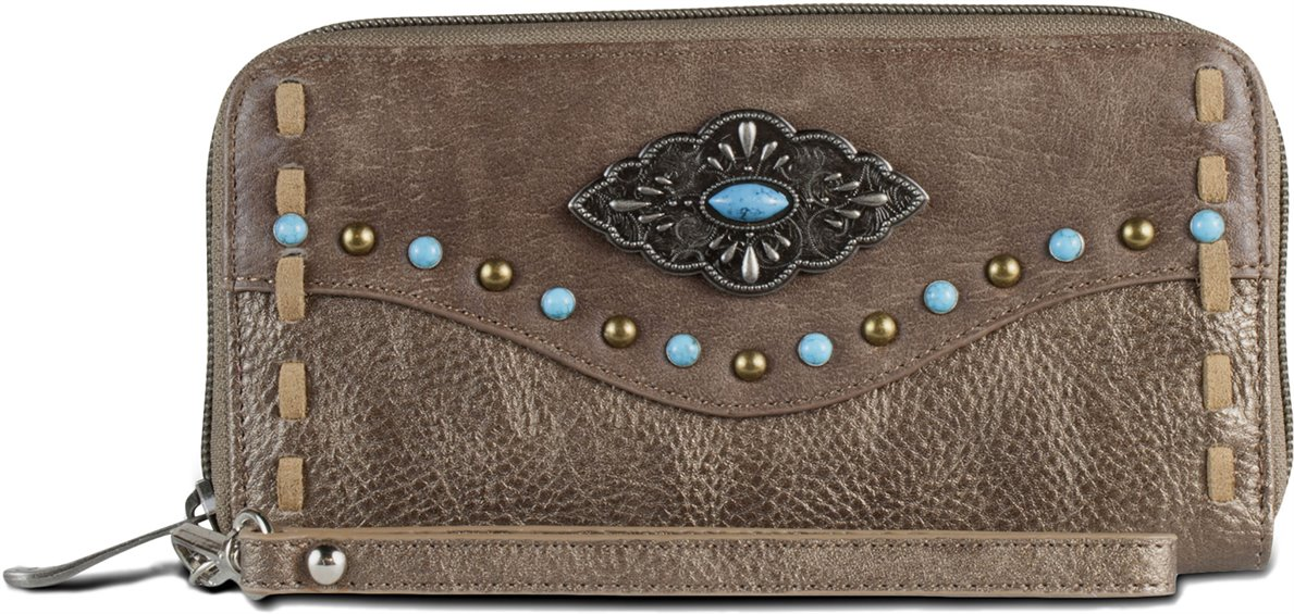 Image for JUSTIN LADIES WALLET-AGED BRONZE ; Style# 1809215W