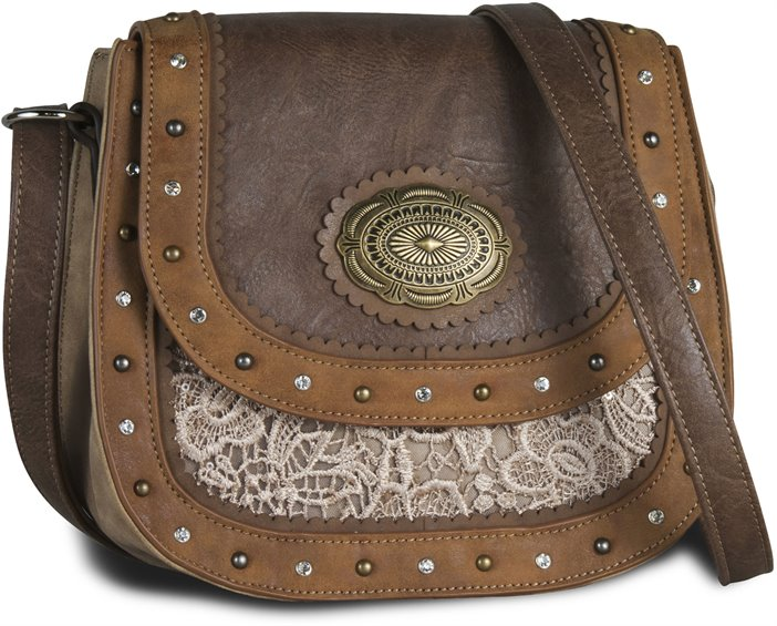 Image for JUSTIN CROSSBODY BAG-TAN LACE ; Style# 1811531H
