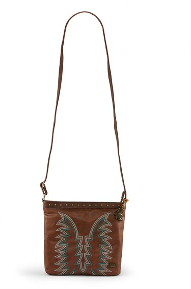 Image for JUSTIN CROSSBODY BAG-CARAMEL ; Style# 1867542H