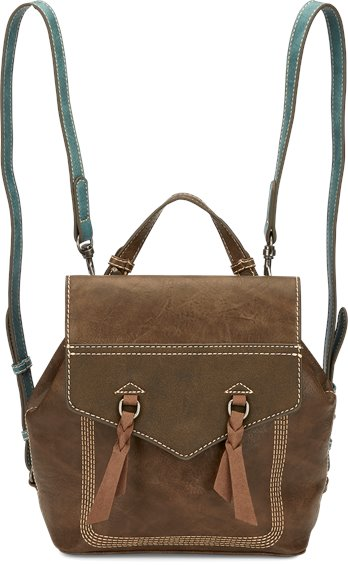 Image for JUSTIN BACKPACK-CHOCOLATE/TURQUOISE ; Style# 1903597TQ