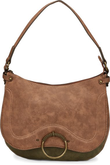 Image for JUSTIN HOBO BAG-CHESTNUT/OLIVE ; Style# 1905594H