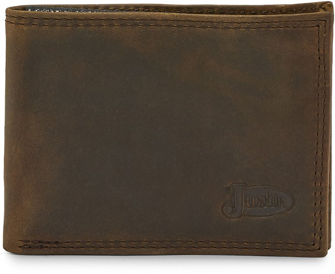 Image for JUSTIN MENS BIFOLD WALLET-DARK TAUPE ; Style# 1920161W2