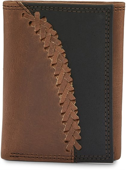 Image for JUSTIN MENS TRIFOLD WALLET-2 TONE ; Style# 1920568W4
