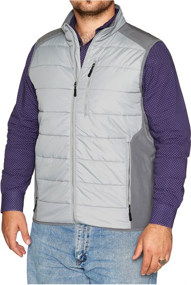 Image for JUSTIN PUFFER VEST-GREY ; Style# 1APP103