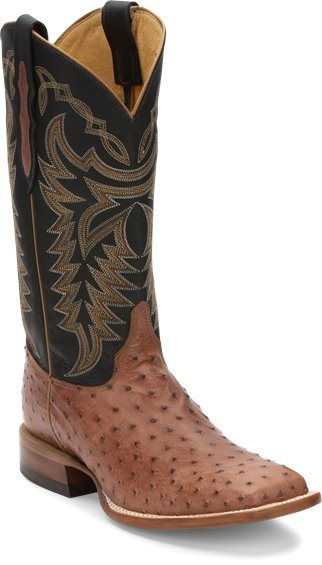 Image for PASCOE RUM BROWN FULL QUILL OSTRICH boot; Style# 8095