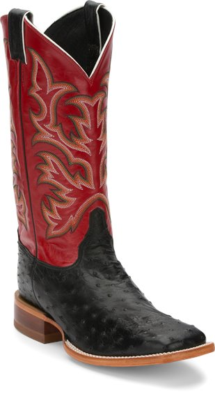 Justin Boots 8575 Pascoe Black Full Quill