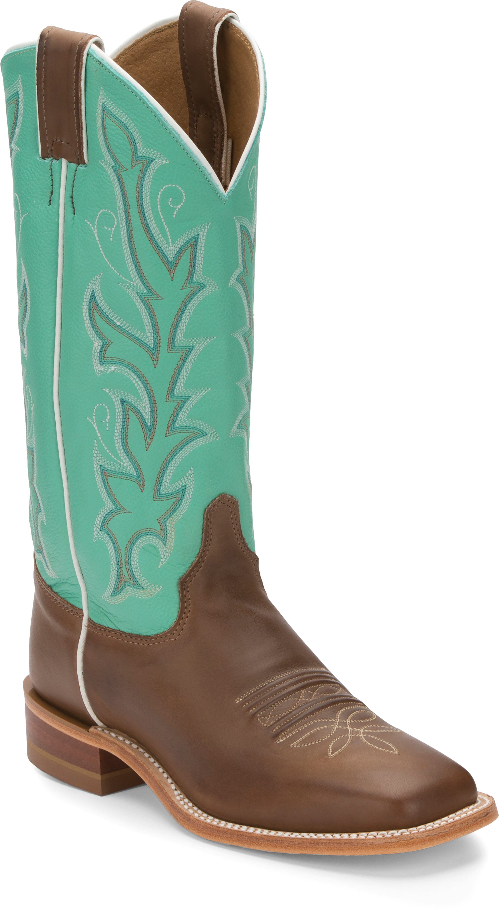 04cdc186d2f JUSTIN BOOTS #BRL310 ALBANY SEAGREEN