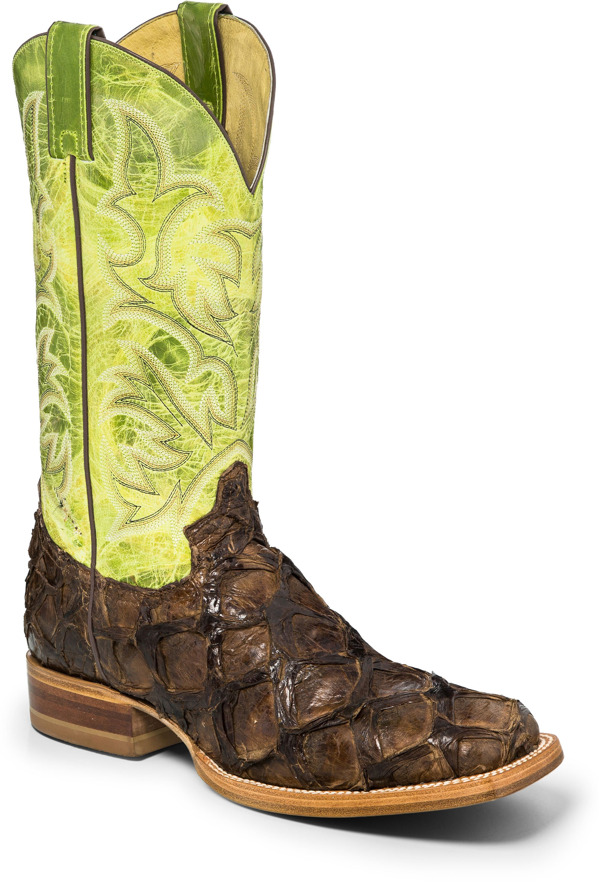 7f8bea326df JUSTIN BOOTS #CX1000 NIGHTLIFE LIME