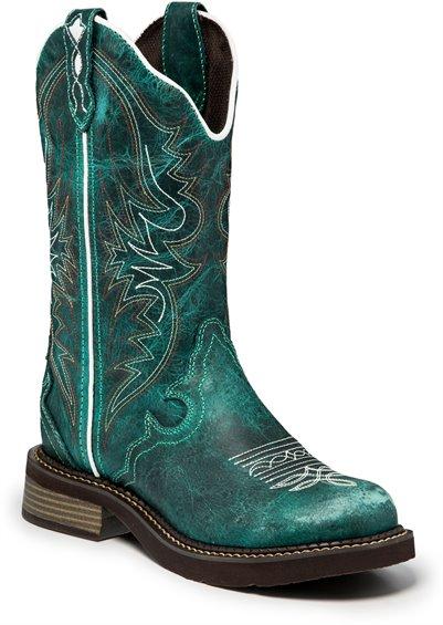 bcc5248adaa JUSTIN BOOTS #L2910 LILY BLUE
