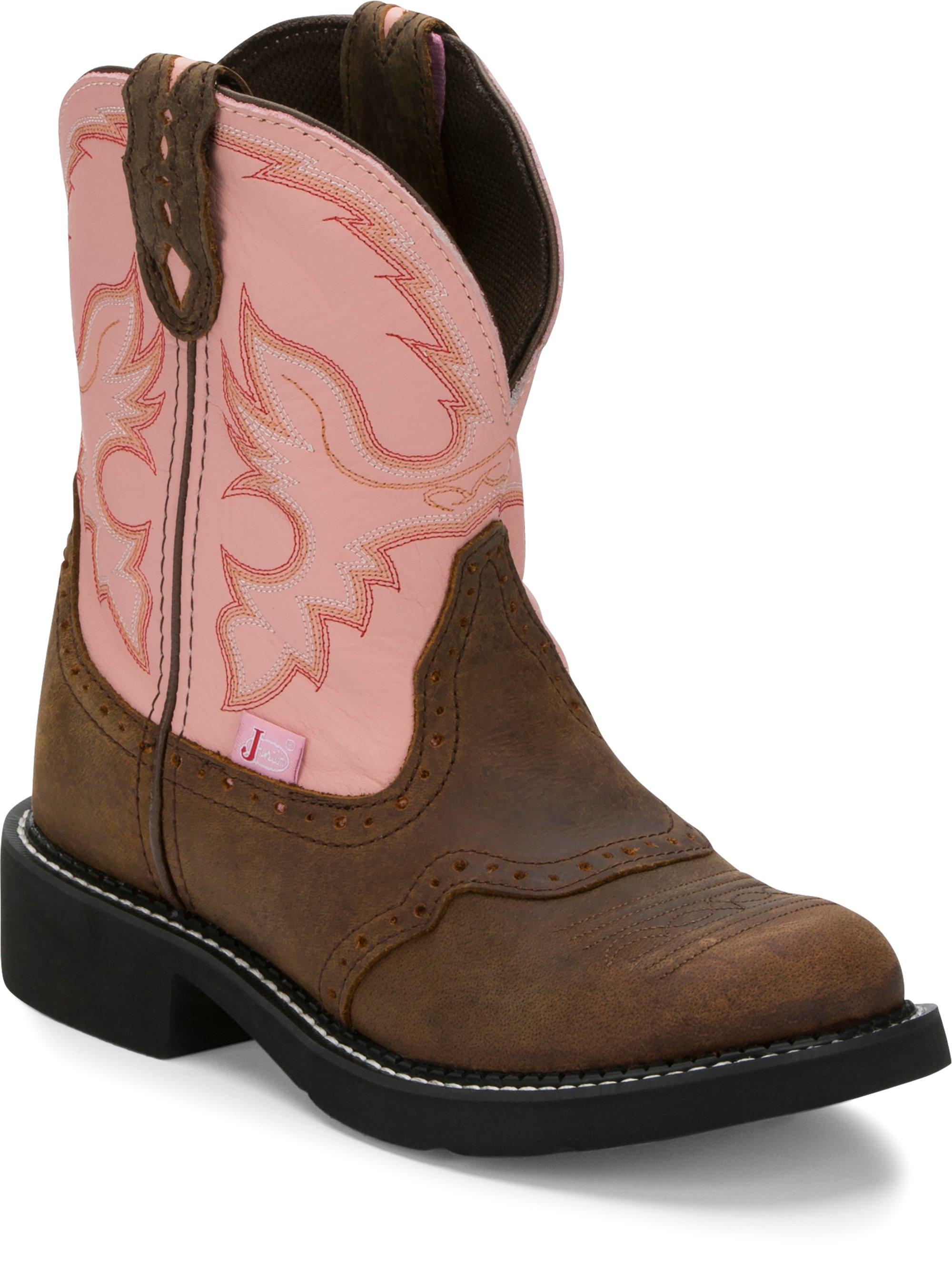 d7460b91496 JUSTIN BOOTS #L9901 GEMMA PINK