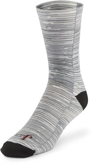 Image for JUSTIN CREW-GREY SCALE STRIPES ; Style# SOX9490D