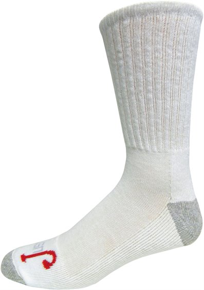 Image for HALF CUSHION CREW-WHITE 3-PK ; Style# SOX9500TH