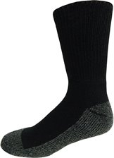 Image for HALF CUSHION WORK CREW-BLACK 2-PK ; Style# SOX9525BK