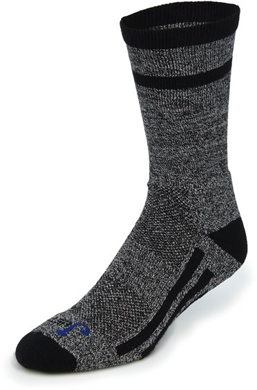 Image for JUST DRY WARDROBE CREW-BLACK/GREY 2-PK ; Style# SOX9587GB