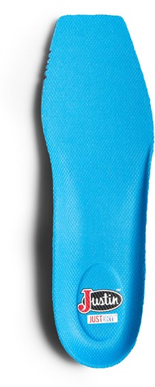 Image for JUSTIN JUST DRY SQUARE TOE INSOLE-BLUE ; Style# SOX9593A