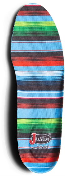 Image for JUSTIN GRAPHIC ROUND TOE INSOLE-SERAPE ; Style# SOX9595C