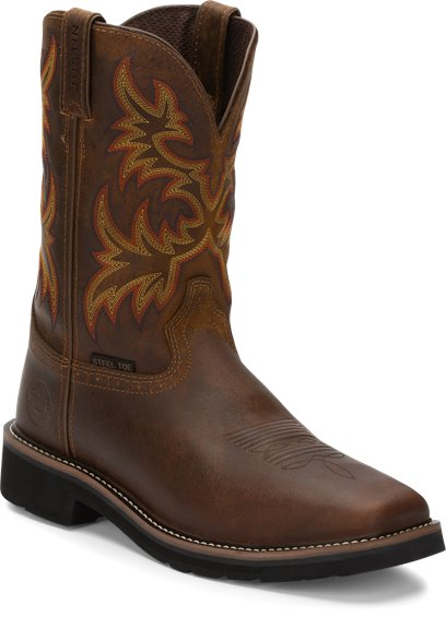 Justin Original Workboots Wk4682 Driller Tan Steel Toe