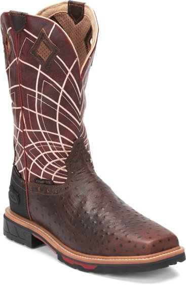 Image for DERRICKMAN OSTRICH PRINT COMP TOE boot; Style# WK4835