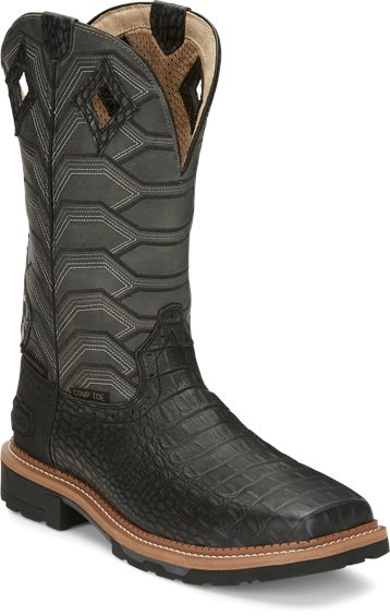 Image for DERRICKMAN W/P CHARCOAL CROC PRINT C/T boot; Style# WK4837