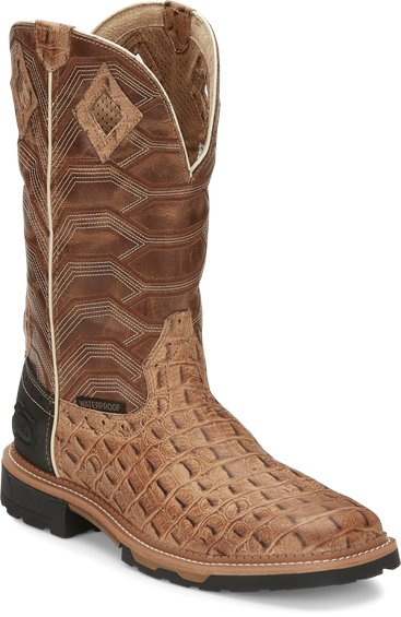 Image for DERRICKMAN W/P CARAMEL CROC PRINT boot; Style# WK4838