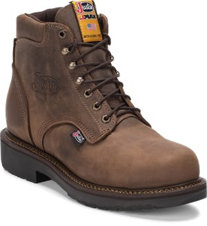Rugged Bay Justin Original Work Boots Balusters Bay Steel Toe 6