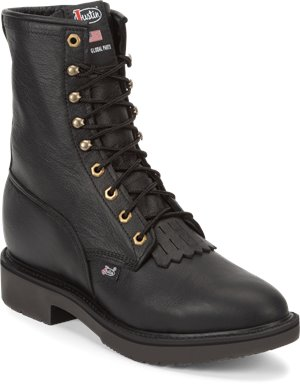 Black Justin Original Work Boots Conductor 8