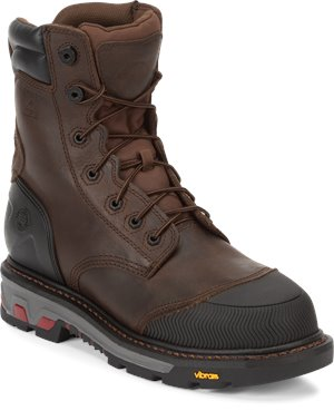 Tan Justin Original Work Boots Warhawk Tan Waterproof Comp Toe