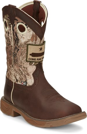 Brown Justin Original Work Boots Rush Grizzly