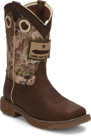 Brown Justin Original Work Boots Rush Grizzly  Steel Toe