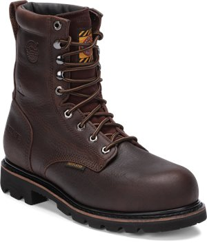 Brown Justin Original Work Boots Miner Bark Insulated Comp Toe