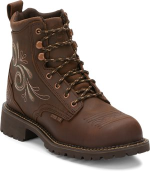 Aged Bark Justin Original Work Boots Katerina Waterproof ST