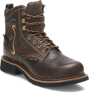 Brown Justin Original Work Boots Deanne Maple Tan Waterproof Comp Toe