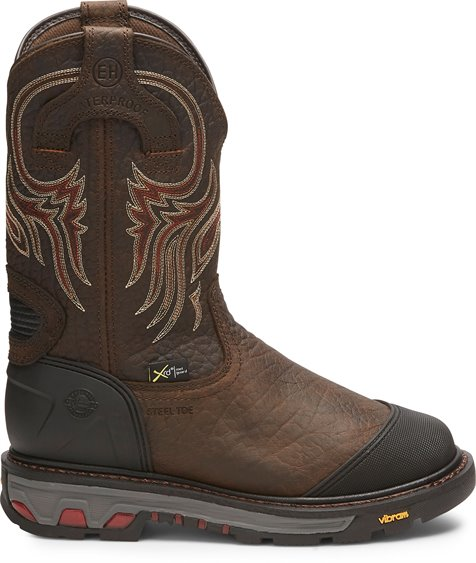 justin boots miner leather work boots
