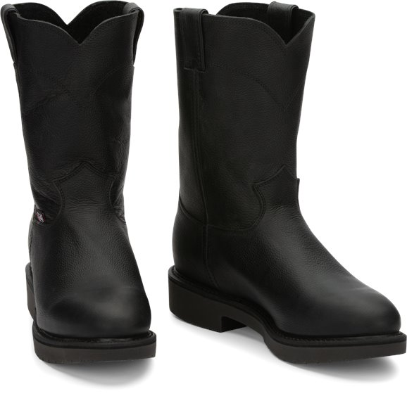 Justin Boots | Conductor Pull On Black