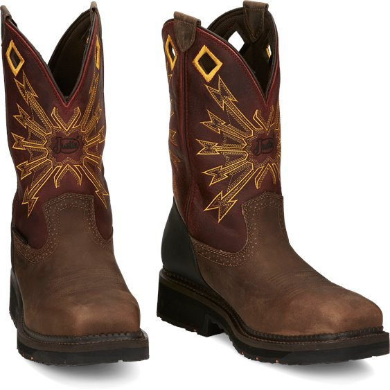 Justin Boots | Flanker Safety Toe Brown