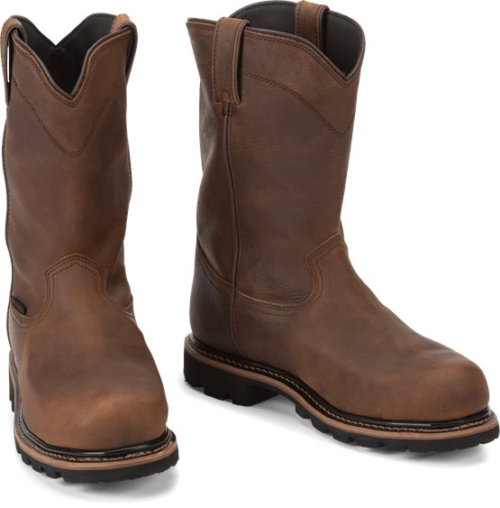 Justin Boots   Pulley Brown #WK4630