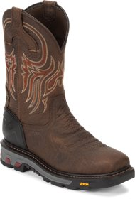 size 4 12C Justin Western leaf stitching cowgirl boots made in USA
