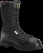 """Men's 10"""" Waterproof Steel Toe Internal Metguard Search and Rescue Boot - Black"""