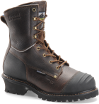 "Men's 8"" Waterproof Insulated Logger - Worn Saddle Black Coffee"