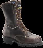 "Men's 10"" Waterproof Insulated Logger - Worn Saddle Black Coffee"