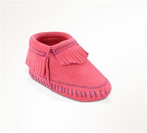 Hot Pink Minnetonka Riley Bootie