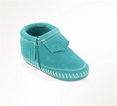 Turquoise Minnetonka Riley Bootie