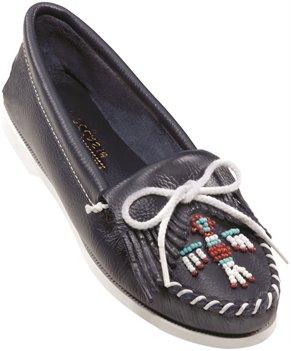 Navy Minnetonka Thunderbird Smooth Leather