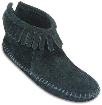 Black Softsole Minnetonka Back Zipper Boot
