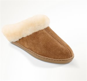 Tan Minnetonka Sheepskin Mule