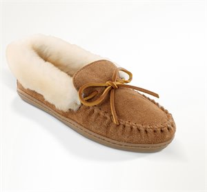 Tan Minnetonka Alpine Sheepskin Moc