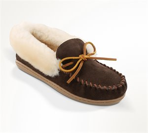 Chocolate Minnetonka Alpine Sheepskin Moc