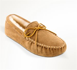 Tan Minnetonka Sheepskin Softsole Moc