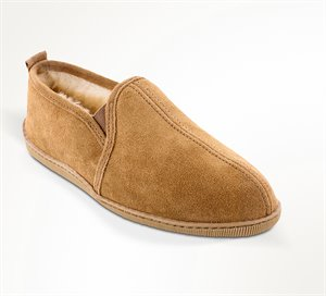 Tan Wide Minnetonka Twin Gore Sheepskin